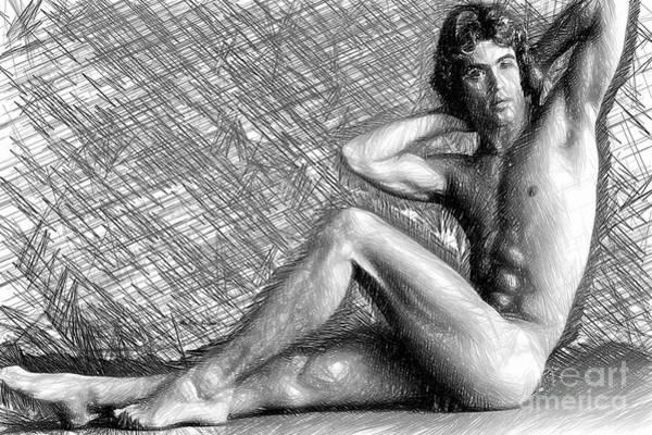 Digital Art - Male Morning Stretch by Rafael Salazar