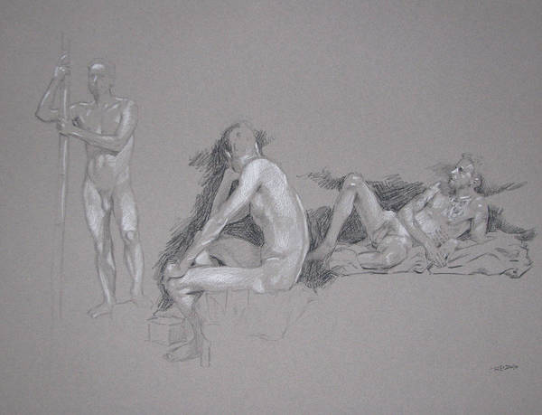 Painting - Male Nude by Christopher Reid