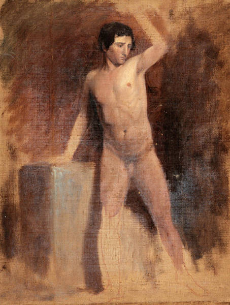 Wall Art - Painting - Male Nude by Thomas Cole