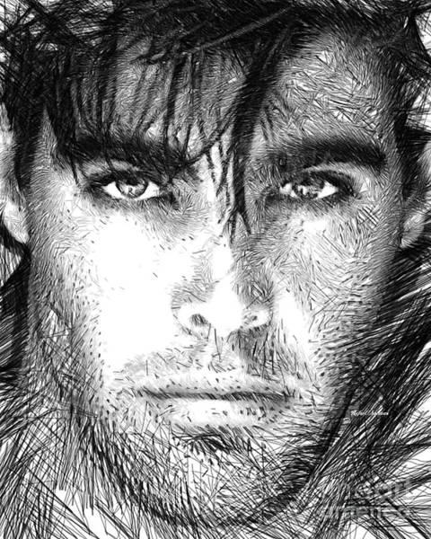 Digital Art - Male Portrait 1359 by Rafael Salazar