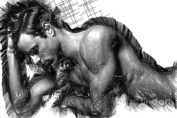 Digital Art - Male Pose 1416 by Rafael Salazar