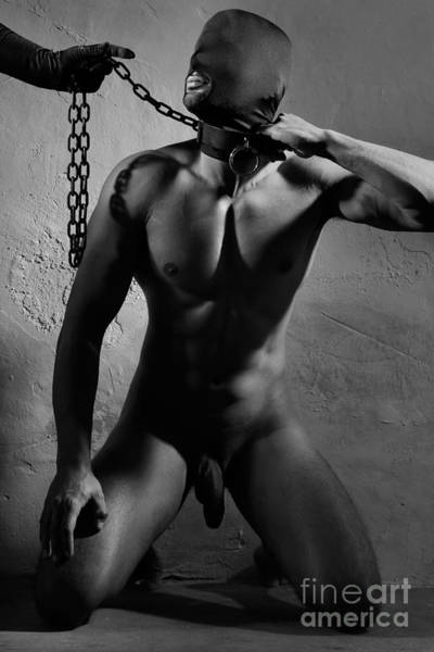 Photograph - Male Slave In A Dungeon #0062g by William Langeveld