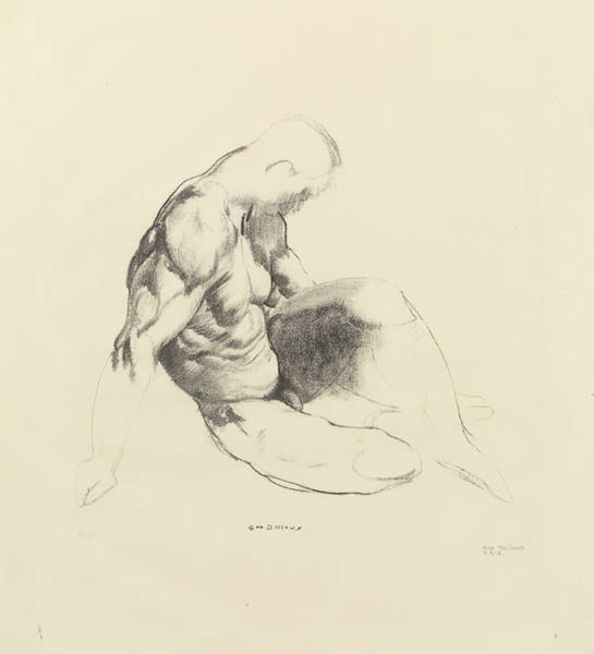 Drawing - Male Torso by George Bellows