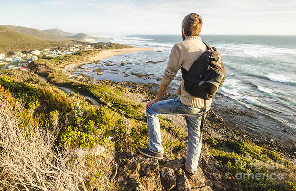 Trial Harbour Wall Art - Photograph - Male Tourist Travelling West Coast Tasmania by Jorgo Photography - Wall Art Gallery