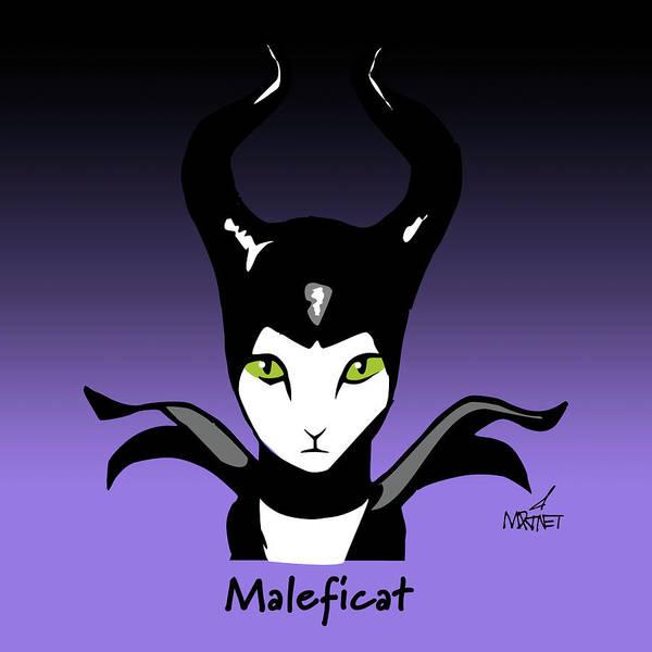 Maleficent Digital Art - Maleficat by Mike Martinet