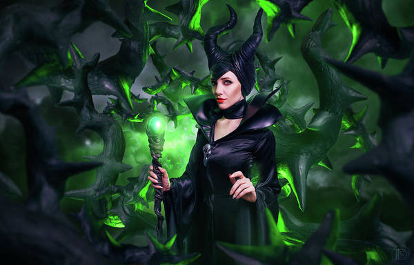 Maleficent Digital Art - Maleficent by Lucie Malecot