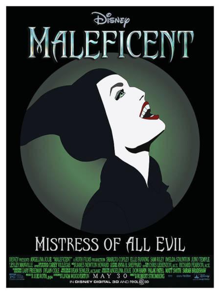Maleficent Digital Art - Mistress Of All Evil by Quashaun LaFond-Cantu