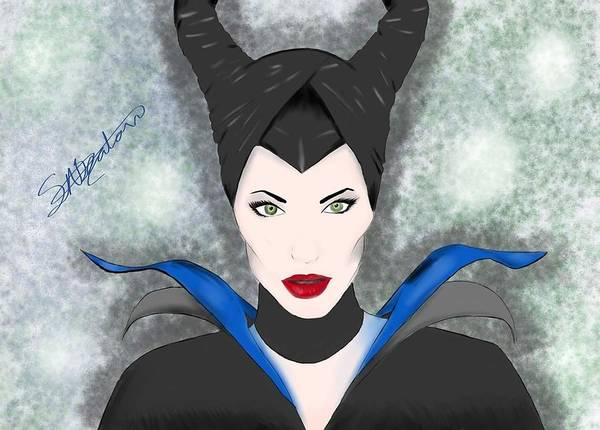 Maleficent Digital Art - Maleficent  by Samantha Beaton