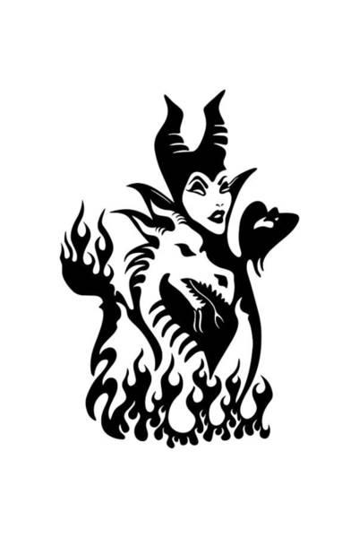 Maleficent Digital Art - Maleficent's Dragon by Daniella Koontz