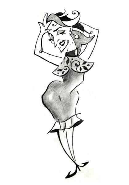 Wall Art - Drawing - Malena Tango - Sexy Woman Pencil Drawing by Arte Venezia