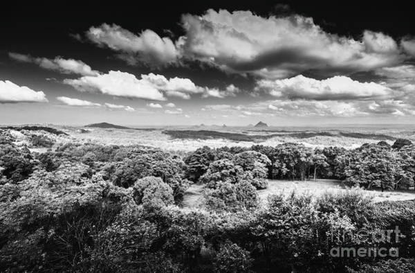 Glasshouse Photograph - Maleny Black And White Landscape by Jorgo Photography - Wall Art Gallery