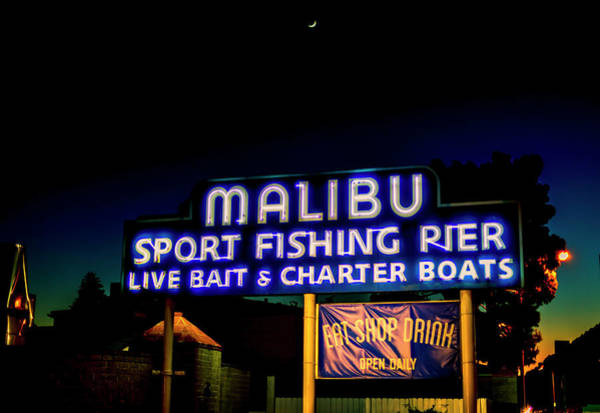 Photograph - Malibu Pier At Dusk by Gene Parks