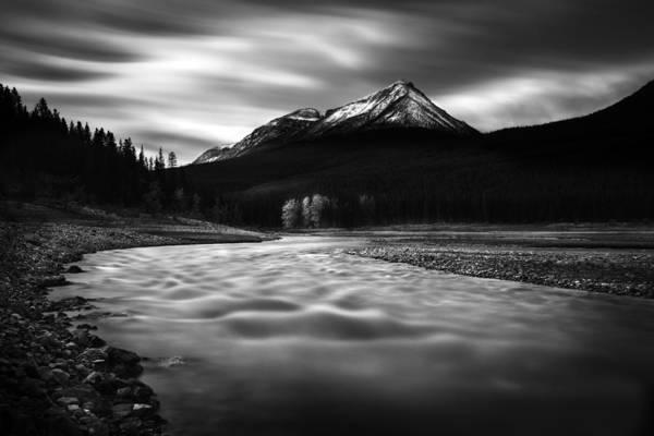 Photograph - Maligne River Autumn by Dan Jurak