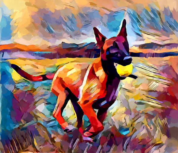 Wall Art - Painting - Malinois by Chris Butler