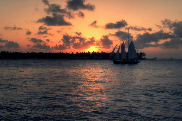 Town Square Photograph - Mallory Square Sunset - Key West by Kim Hojnacki