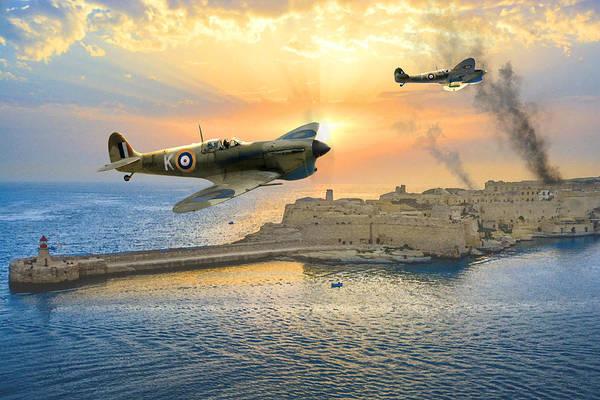 Raf Digital Art - Malta Bastion by Mark Donoghue