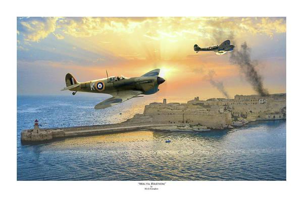Raf Digital Art - Malta Bastion - Titled by Mark Donoghue