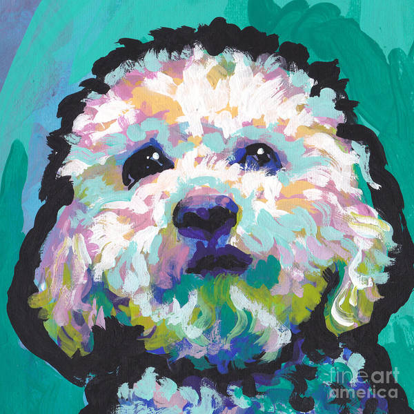 Poodle Wall Art - Painting - Malted Milky Poo by Lea S