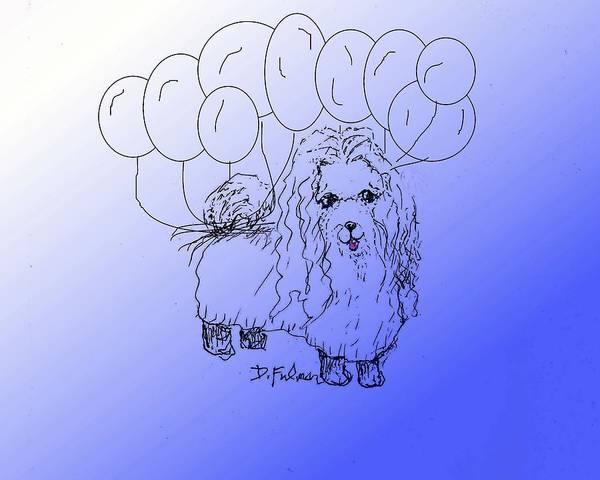 Drawing - Maltese by Denise F Fulmer