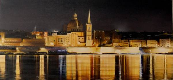 Benny Painting - Maltese Heritage By Night by Benny Brimmer