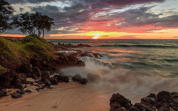 Photograph - Maluaka Beach Sunset by Susan Rissi Tregoning
