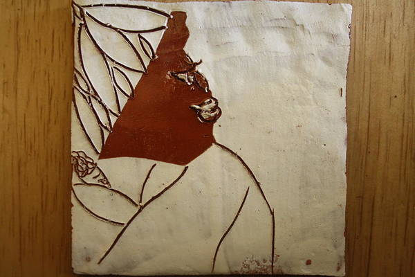 Ceramic Art - Mama 1 -tile by Gloria Ssali