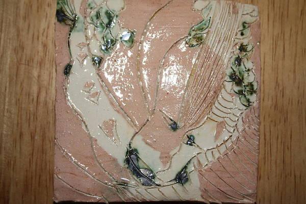 Ceramic Art - Mama Cares - Tile by Gloria Ssali