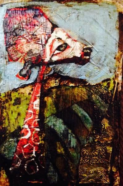 Mama Africa Wall Art - Painting - Maman Giraffe by Christine Kuhn