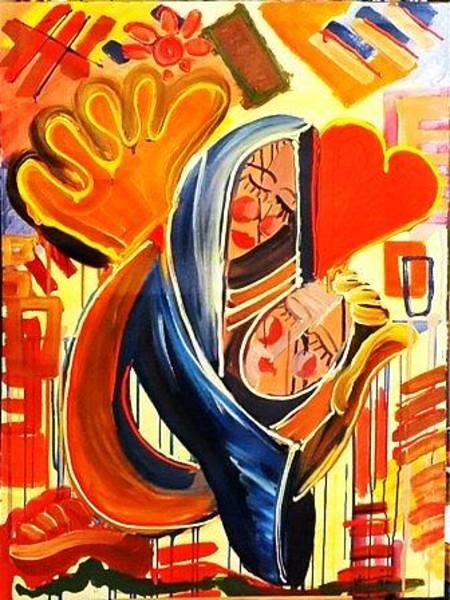Wall Art - Painting - Maman by Mounir Lakkis