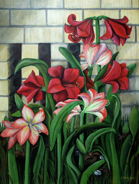 Wall Art - Painting - Mama's Garden by Elaine Hodges