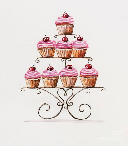 Painting - Mamie's Cupcakes by Elizabeth Robinette Tyndall