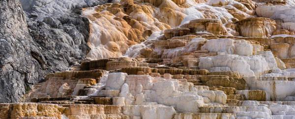 Hot Springs Photograph - Mammoth Hot Springs Terraces Yellowstone by Steve Gadomski