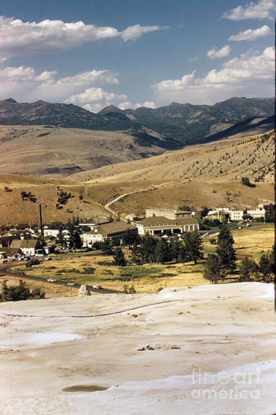 Photograph - Mammoth Hot Springs  Village  Yellow Stone Wyoming Circa 1960 by California Views Archives Mr Pat Hathaway Archives
