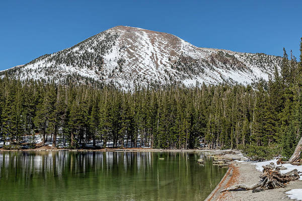 Turqoise Photograph - Mammoth Mountain And Mcleod Lake by Kelley King
