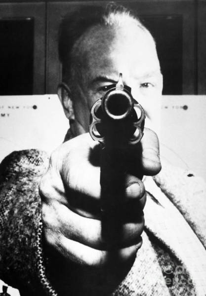Photograph - Man Aiming Revolver At You by Granger