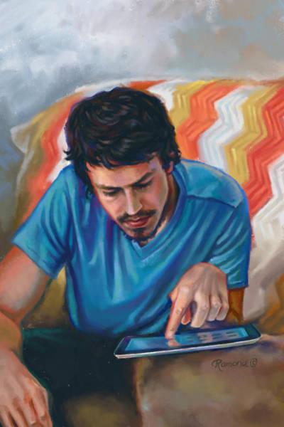 Crochet Digital Art - Man And Device by Ramona MacDonald