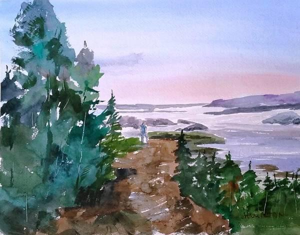Painting - Man At Fraser Lake Bc by Larry Hamilton