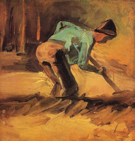 Ditch Painting - Man Digging, 1882 by Vincent Van Gogh