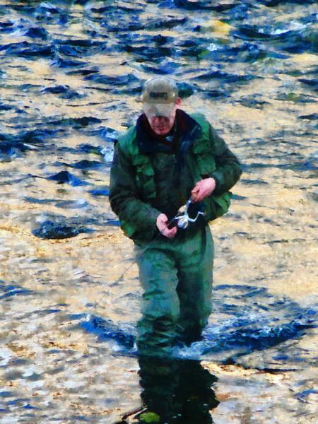 Photograph - Man Fishing by Susan Savad