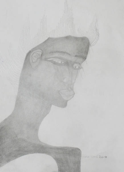 Drawing - Man by Gloria Ssali
