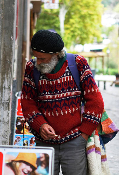 Photograph - Man In A Red Sweater by Lorraine Devon Wilke