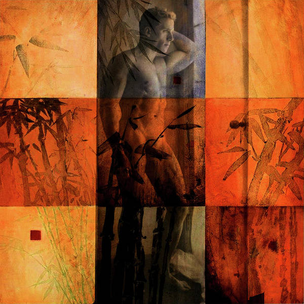 Painting - Man In Bamboo by Troy Caperton