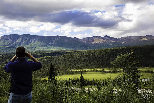Wall Art - Photograph - Man In Blue Shirt - Alaska by Madeline Ellis
