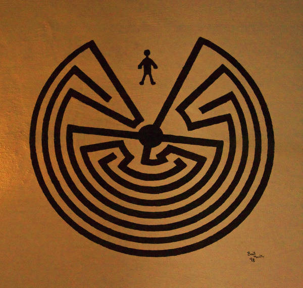 Photograph - Man In Maze by Tom Singleton