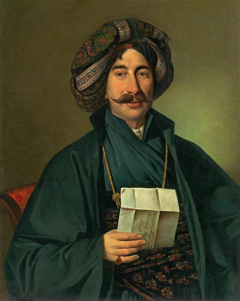 Wall Art - Painting - Man In Ottoman Dress  by Giuseppe Tominz