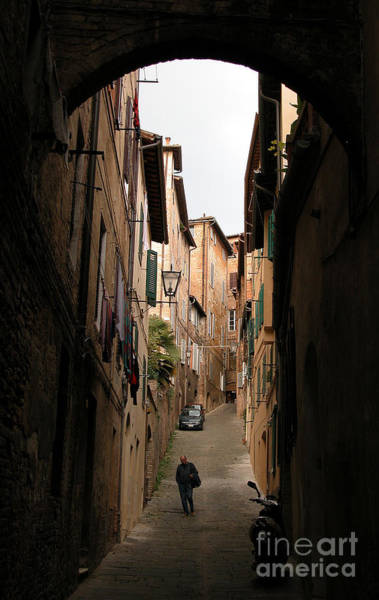 Wall Art - Photograph - Man In Street-siena by Jim Wright