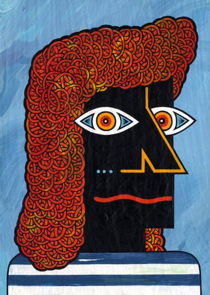 Eyeballs Painting - Man In Striped Shirt.  by Matt Leines