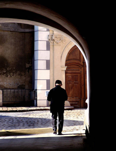 Bratislava Photograph - Man In The Archway by Todd Fox