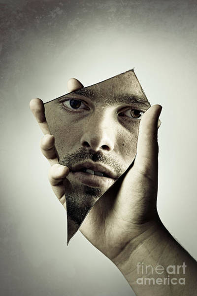 Wall Art - Photograph - Man In The Mirror by Amanda Elwell