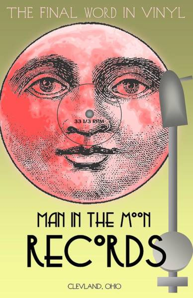 Wall Art - Digital Art - Man In The Moon by Steven Boland